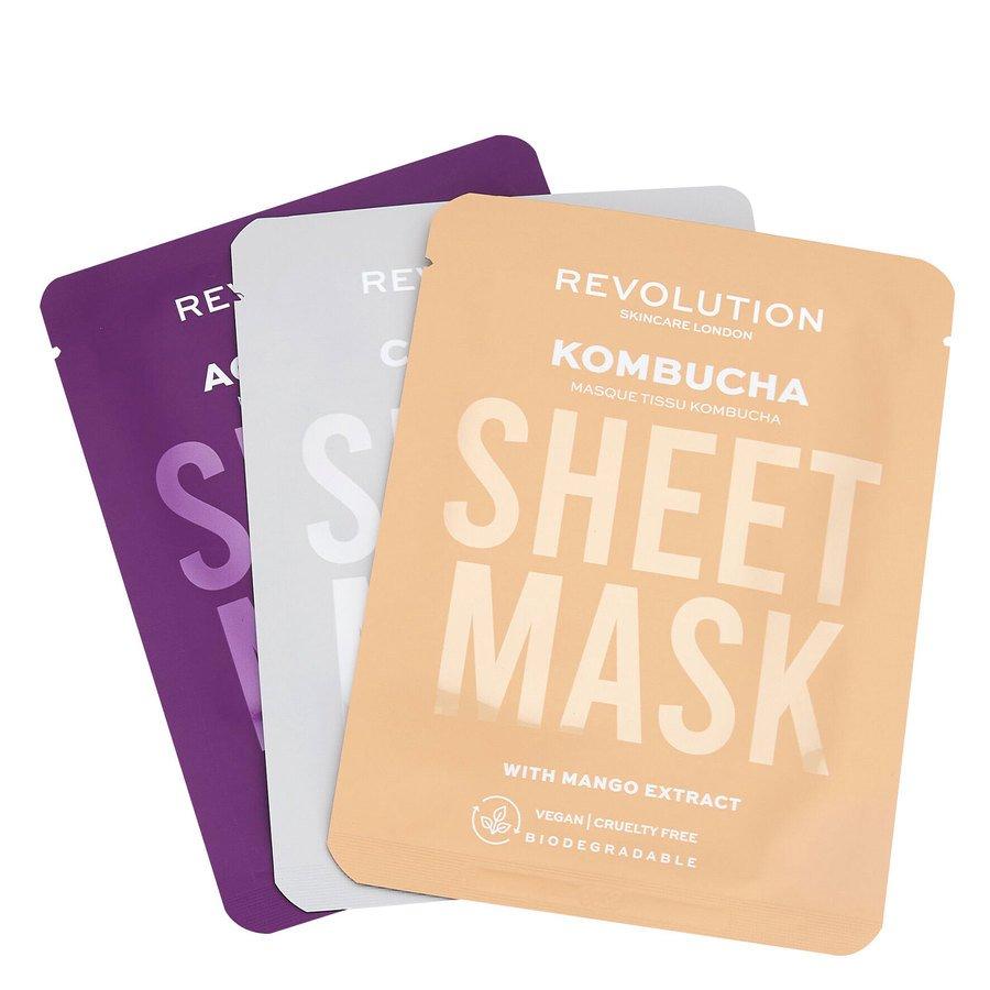 Revolution Beauty Revolution Skincare Biodegradable Combination Skin Sheet Mask 3 kpl
