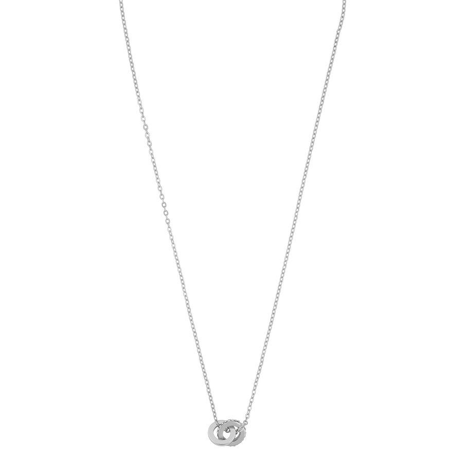Snö Of Sweden Connected Pendant Necklace 42 cm – Silver/Clear