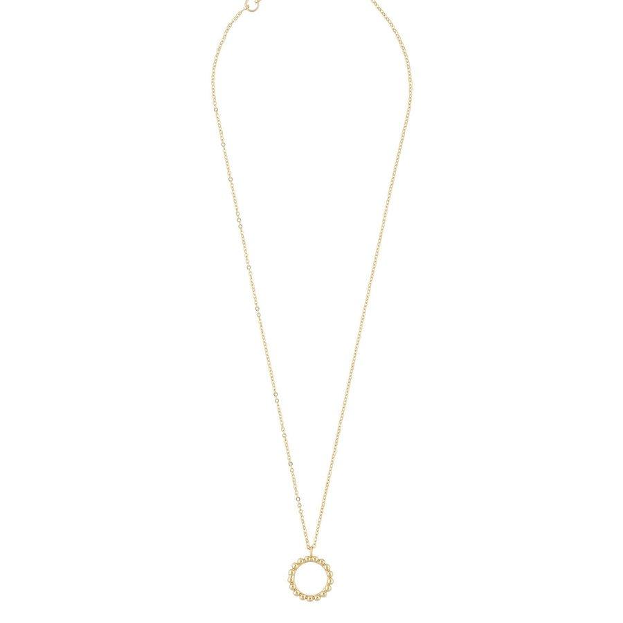 Snö Of Sweden Point Pendant Necklace 42 cm ─ Plain Gold