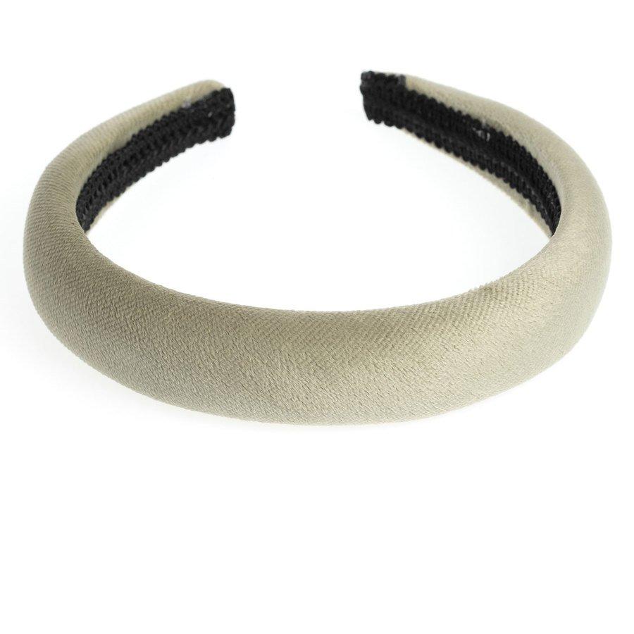 DARK Velvet Hairband Broad ─ Faded Army