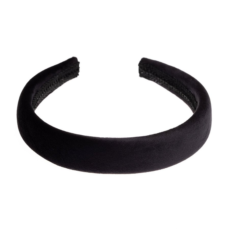 DARK Velvet Hairband Broad ─ Black