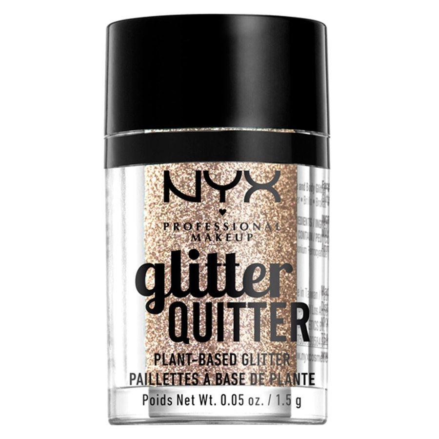 NYX Professional Makeup Glitter Quitter Plant Based Glitter 1,5 g – Gold