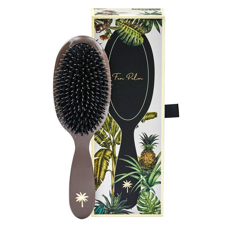 Fan Palm Boar & Nylon Brush Medium – Mink
