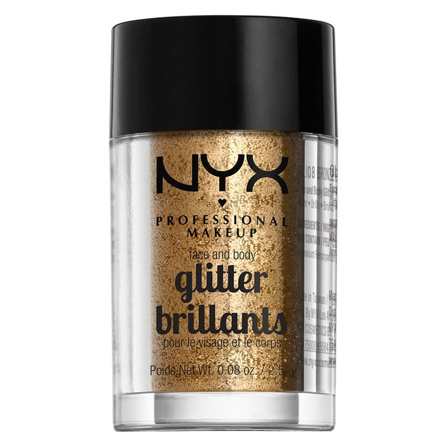NYX Professional Makeup Face And Body Glitter Brillants 2,5g – Bronze GLI08