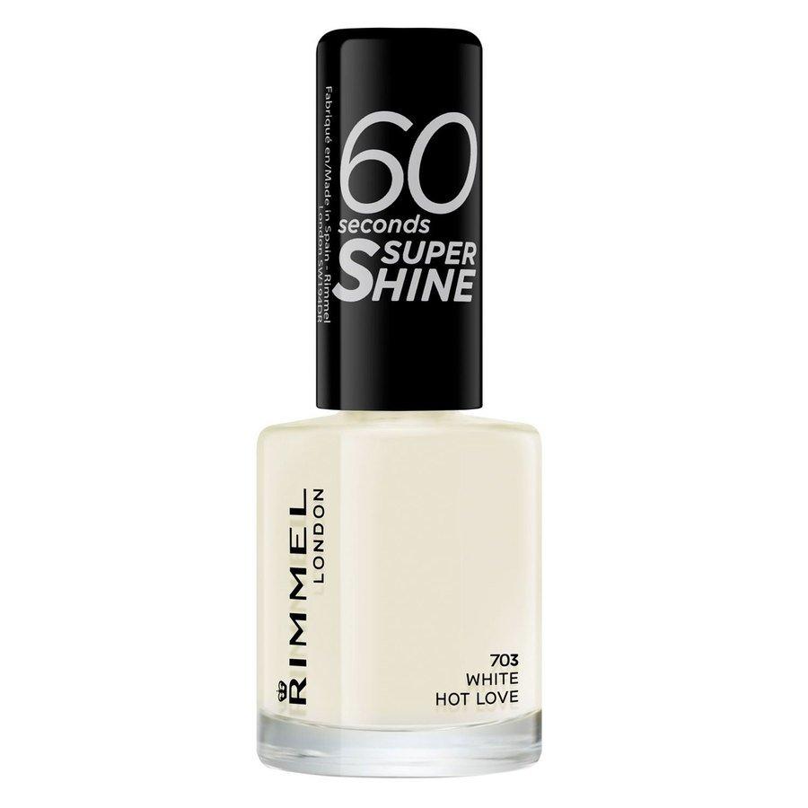 Rimmel London 60 Seconds Super Shine Nail Polish 8 ml ─ #703 White Hot Love