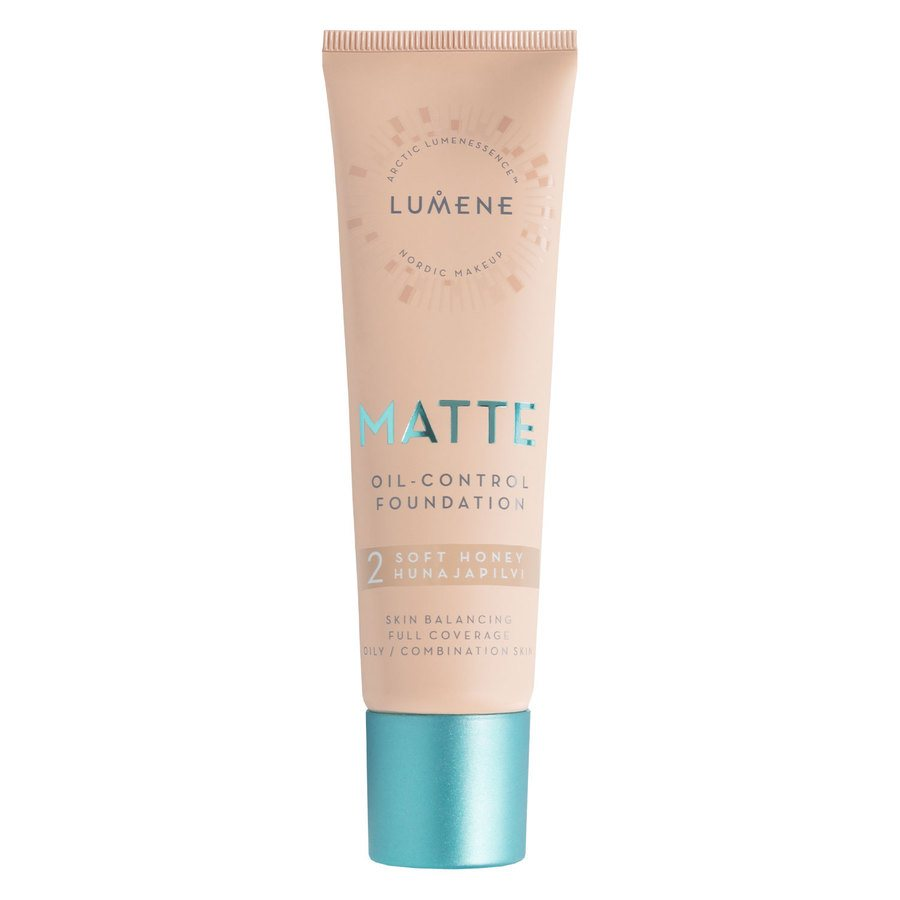 Lumene Matte Oil-Control Foundation 30 ml - 2 Soft Honey