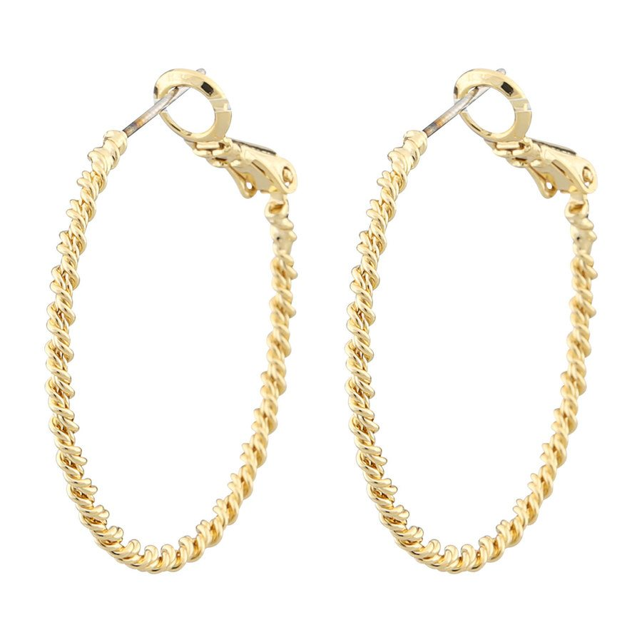 Snö of Sweden Madeleine Ring Earring 30 mm – Plain Gold