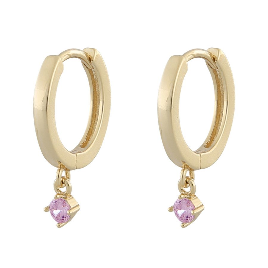 Snö Of Sweden Camille Small Ring Earring ─ Gold/Pink