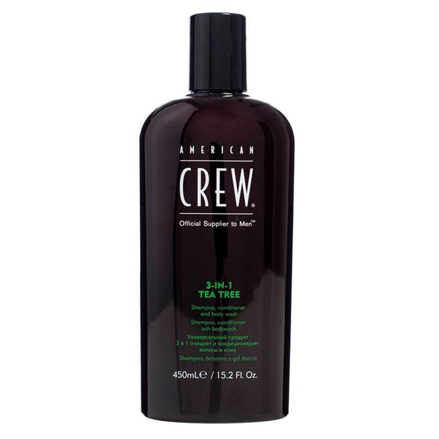 American Crew 3-In-1 Tea Tree Shampoo, Conditioner and Body Wash 450 ml