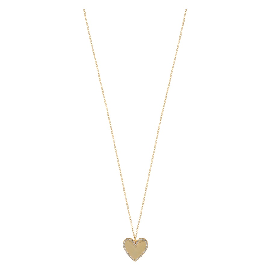 Snö of Sweden Mii Stone Pendant Necklace 42cm Gold/Clear