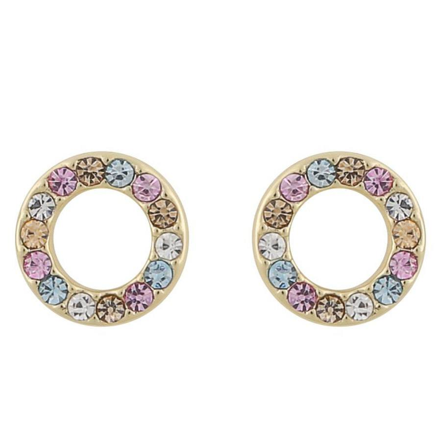 Snö Of Sweden Lindsey Small Earring ─ Gold/Pink Mix