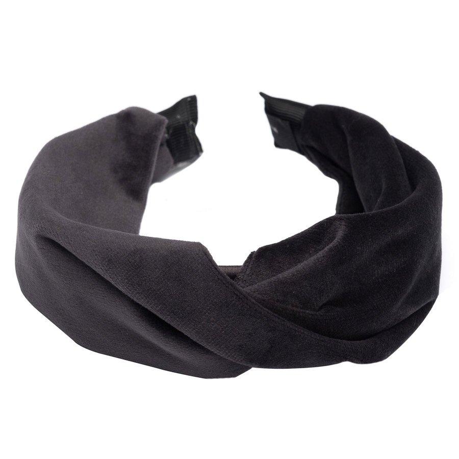 DARK Velvet Folded Hairband ─ Charcoal