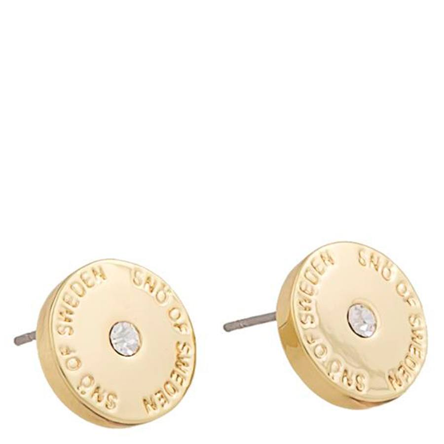 Snö Of Sweden Harly Small Earring Gold/Clear 10 mm
