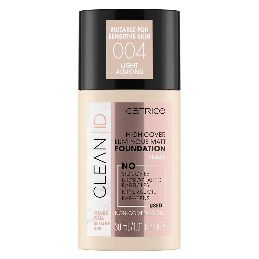 Catrice Clean ID High Cover Luminous Matt Foundation 30 ml – Light Almond 004