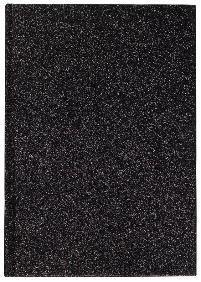 DARK Glitter Notebook A5 ─ Black