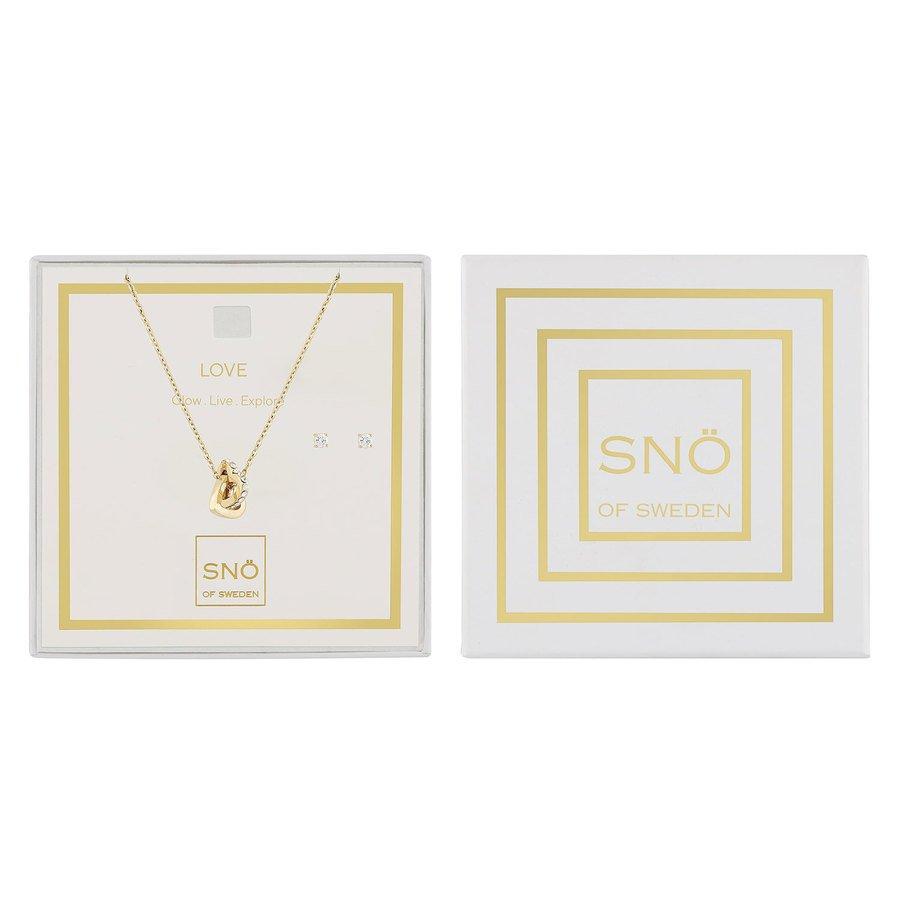 Snö Of Sweden Valentine Love Necklace Set – Gold/Clear