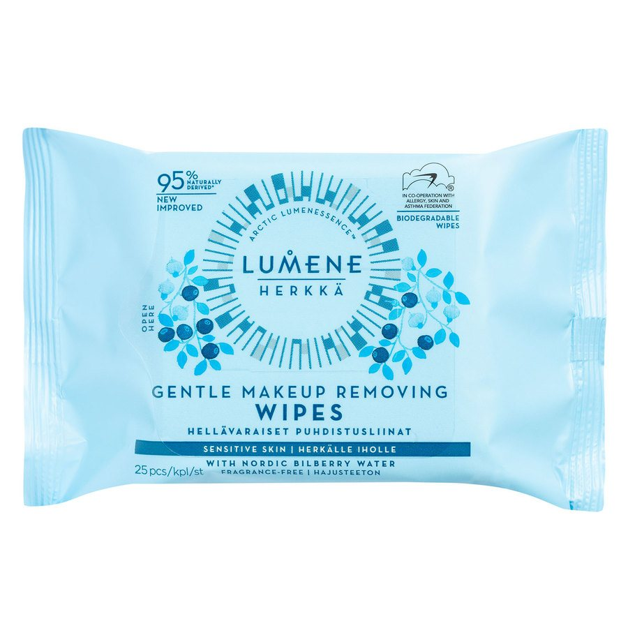 Lumene Herkkä Gentle Makeup Removing Wipes 25 kpl
