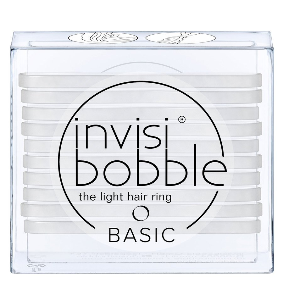 Invisibobble Basic Crystal Clear 10 kpl