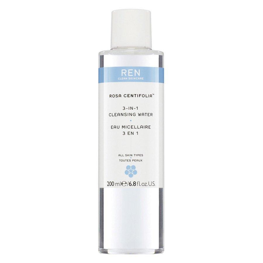 REN Clean Skincare Rosa Centifolia 3 in 1 Cleansing Water 200 ml