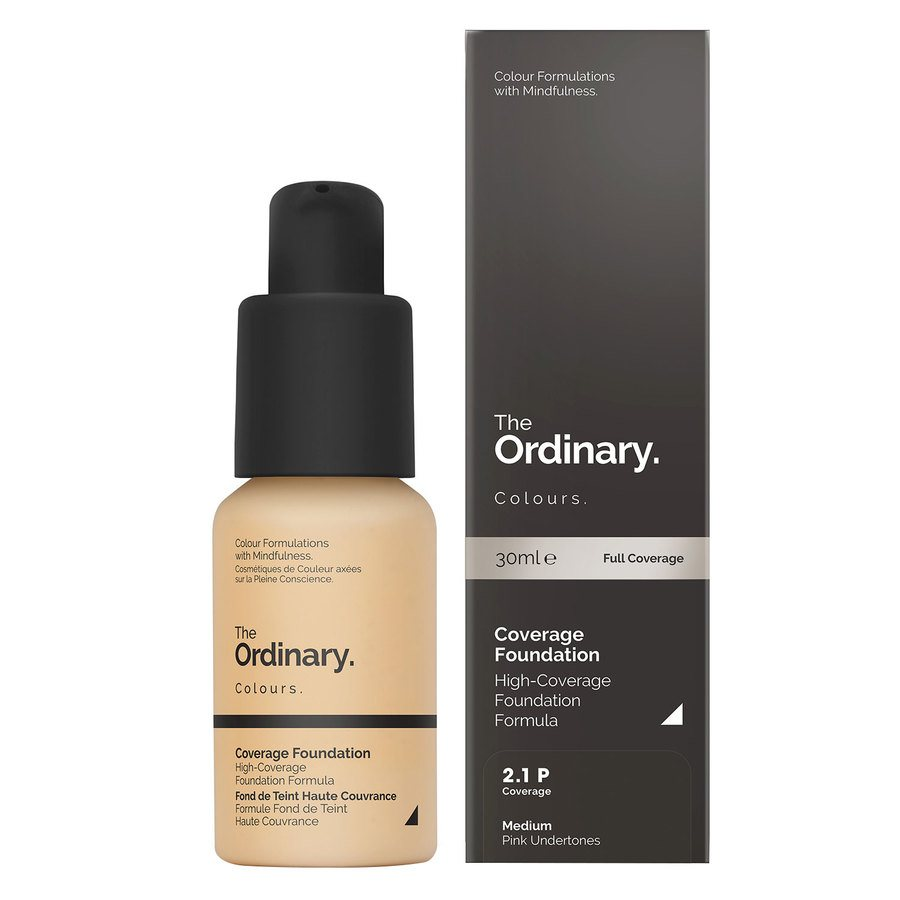The Ordinary Coverage Foundation 30ml - 2.1 P Medium Pink
