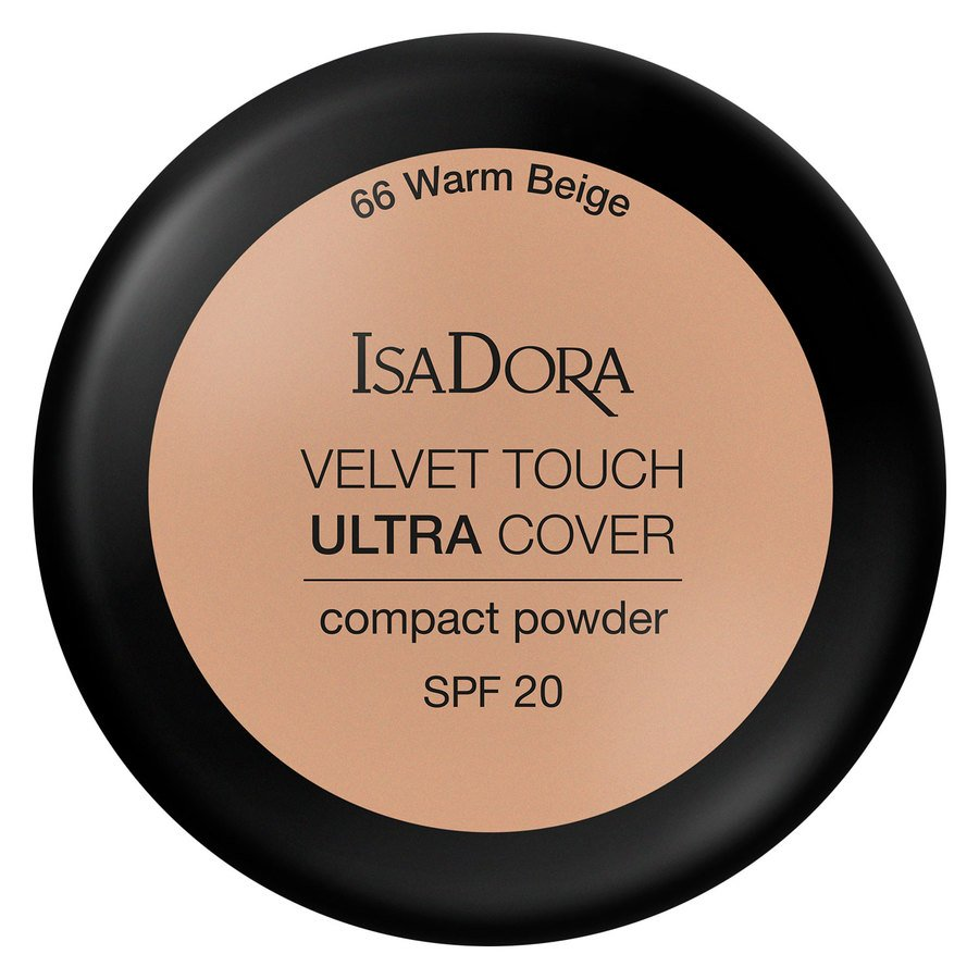 IsaDora Velvet Touch Ultra Cover Compact Powder SPF20 7,5 g ─ 66 Warm Beige