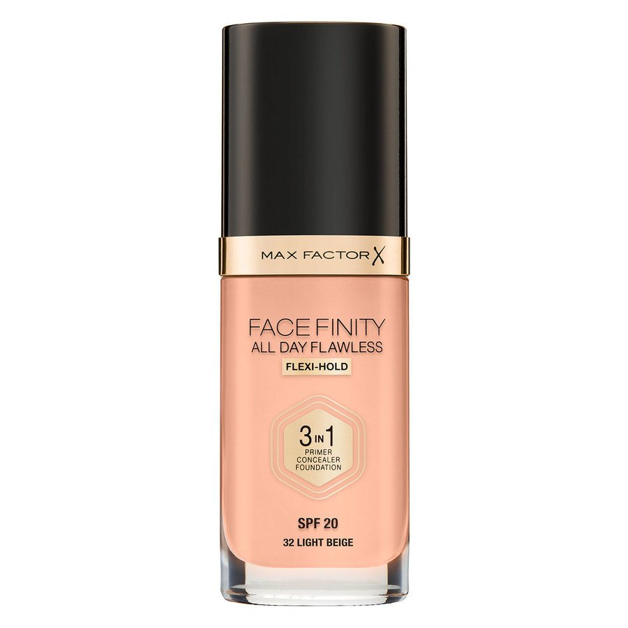 Max Factor Facefinity All Day Flawless 3-in-1 Foundation 30 ml – 32 Light Beige