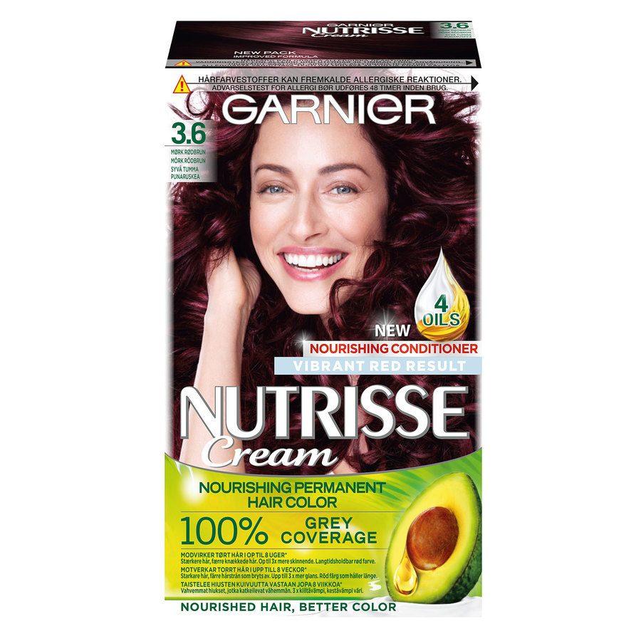 Garnier Nutrisse Cream 3.6 Syvä tumma punaruskea