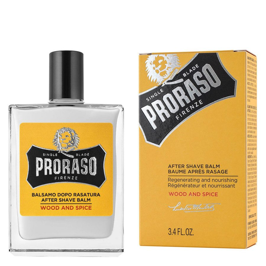 Proraso Single Blade Aftershave Balm 100 ml ─ Wood & Spice