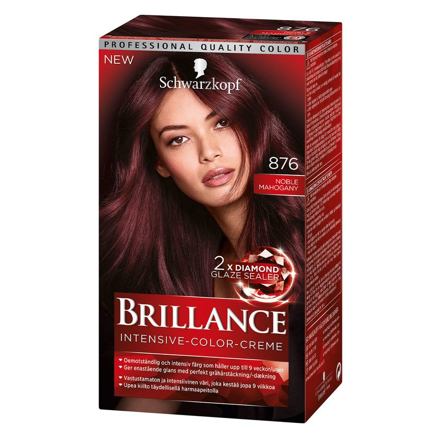 Schwarzkopf Brillance Intensive Color Creme ─ 876 Noble Mahogany