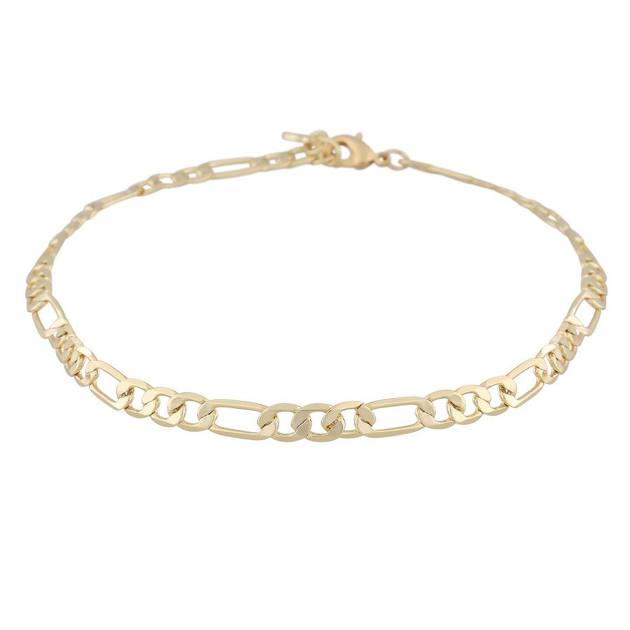Snö Of Sweden Anchor Smal Chain Bracelet ─ Plain Gold