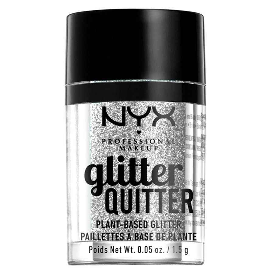 NYX Professional Makeup Glitter Quitter Plant Based Glitter 1,5 g – Silver