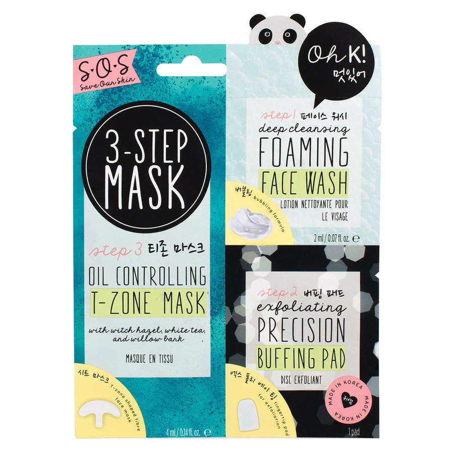 Oh K! SOS 3-Step T-Zone Mask 3 kpl