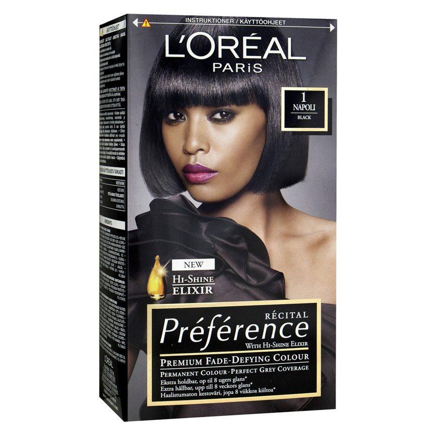 L'Oréal Paris Préférence Core Récital - 1 Black Napoli
