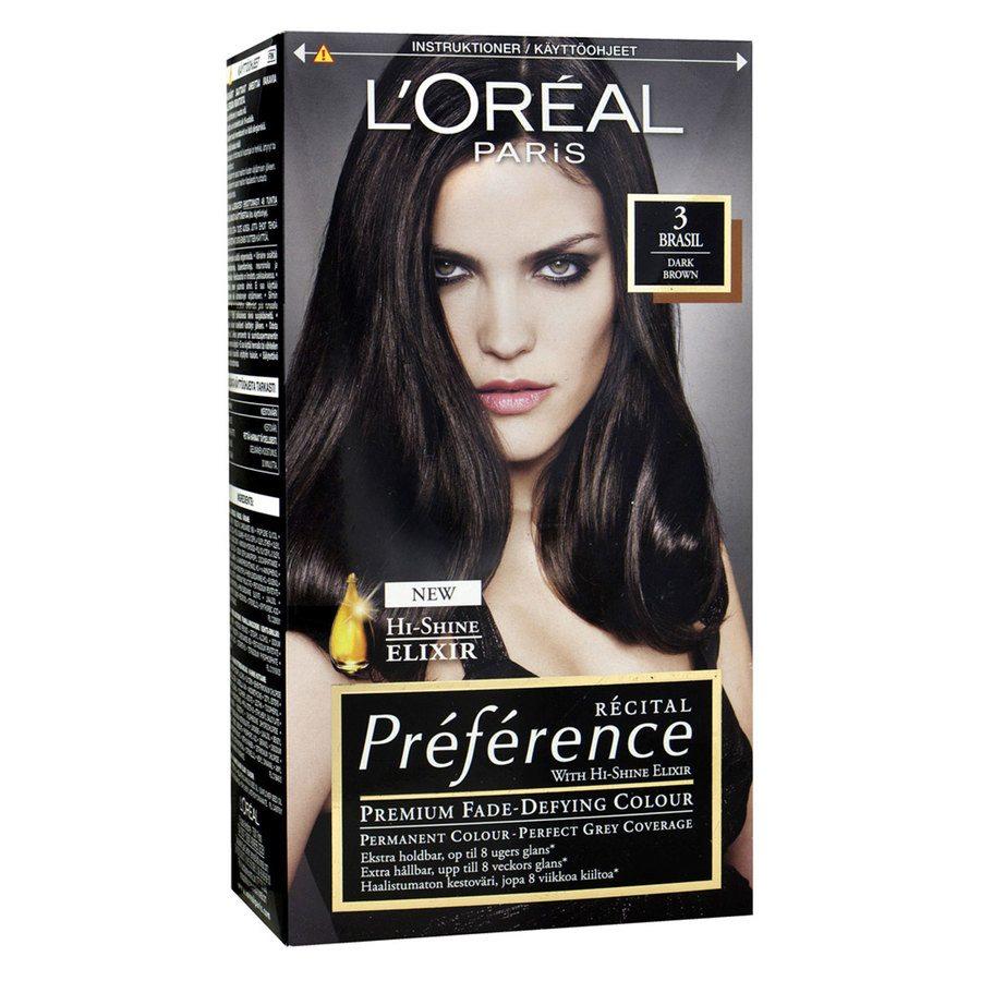 L'Oréal Paris Préférence Core Récital - 3 Dark Brown Brasil