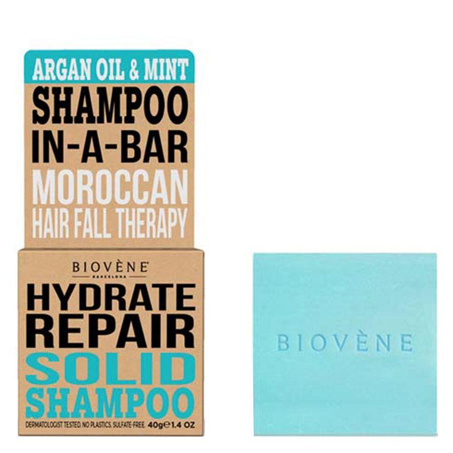 Biovène Hair Care Shampoo Bar Hydrate Repair Argan Oil & Mint 40 g