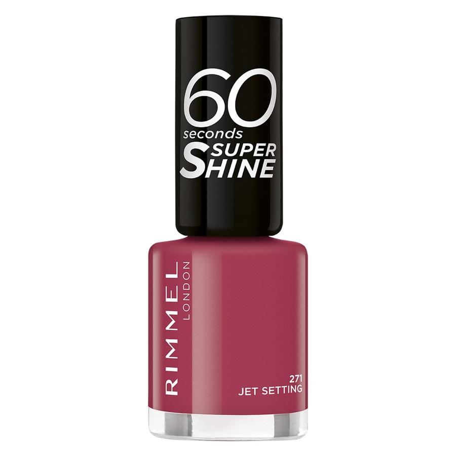 Rimmel London 60 Seconds Super Shine Nail Polish 8 ml – 71 Jet Setting
