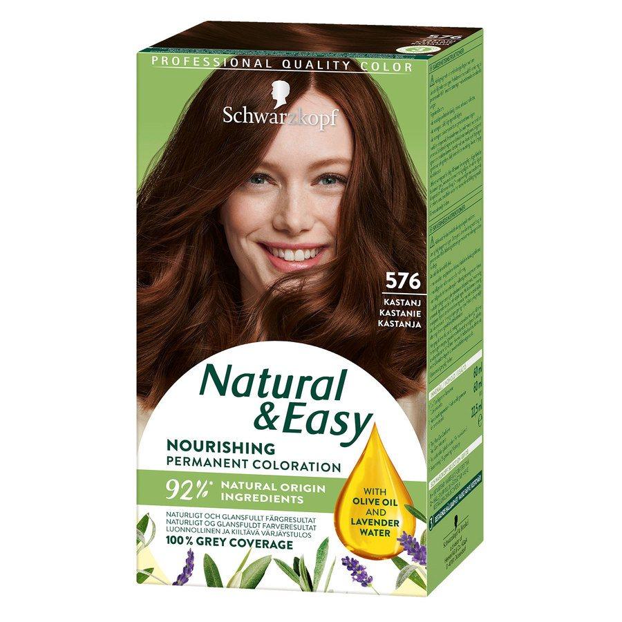 Schwarzkopf Natural & Easy ─ 576 Chestnut Redbrown