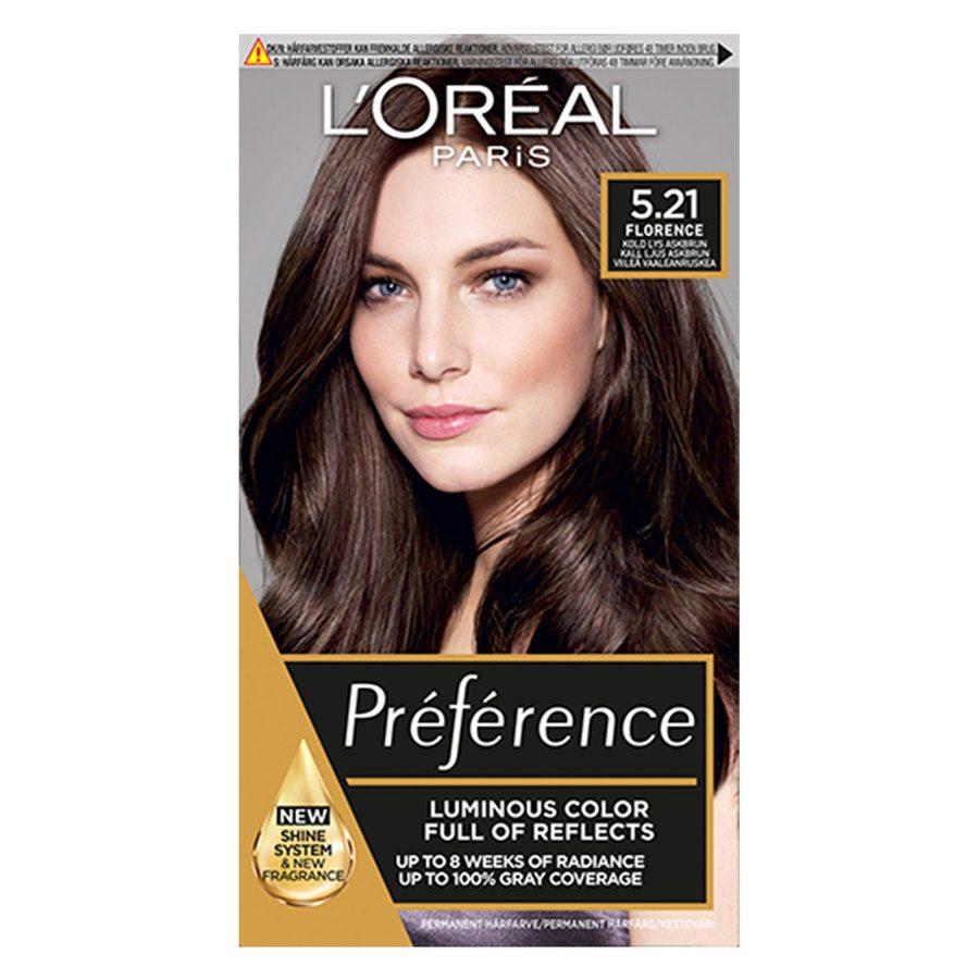 L'Oréal Paris Préférence Core Récital - 5,21 Intense Iridescent Light Brown