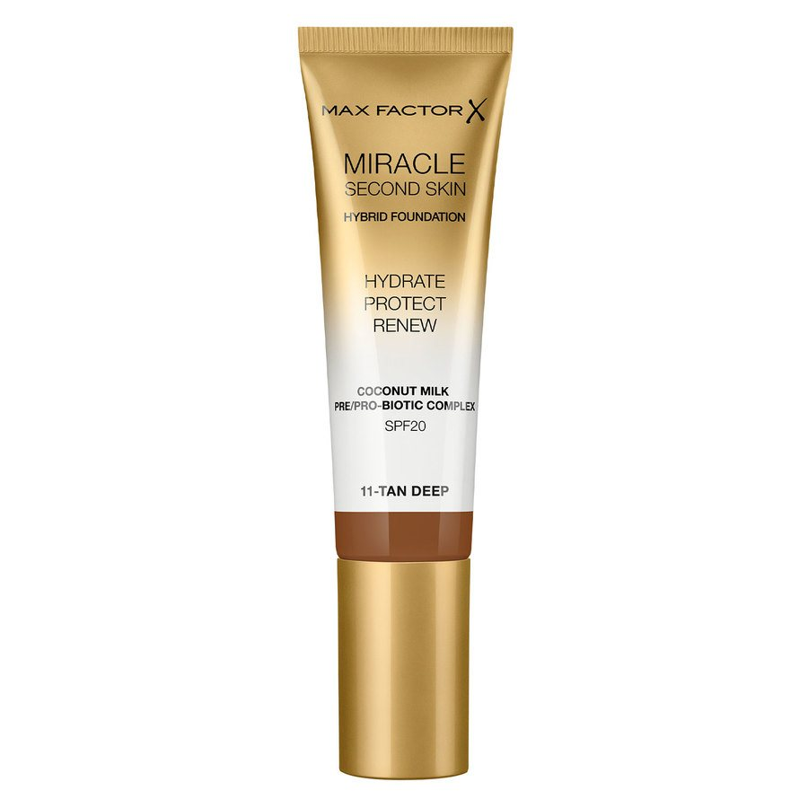 Max Factor Miracle Second Skin Foundation 33 ml ─ #011 Tan/Deep