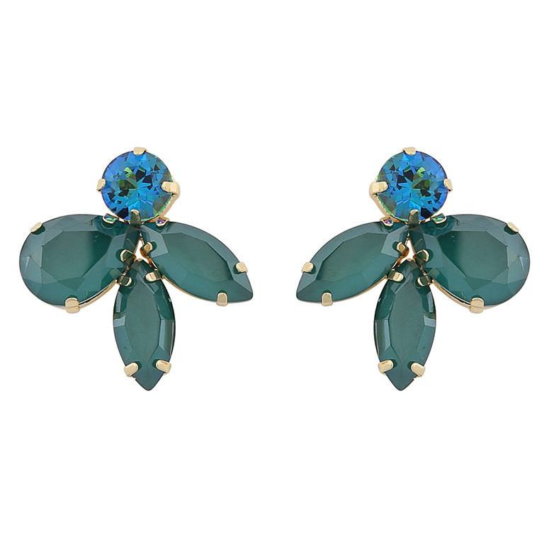 Snö Of Sweden Smith Earring 29 mm ─ Gold/Mix Green