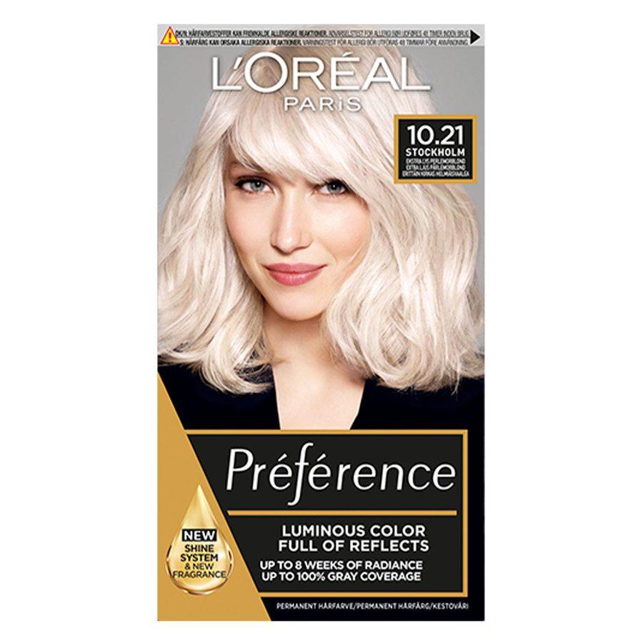 L'Oréal Paris Préférence Core Récital - 10,21 Extra Light Pearl Blonde Stockholm