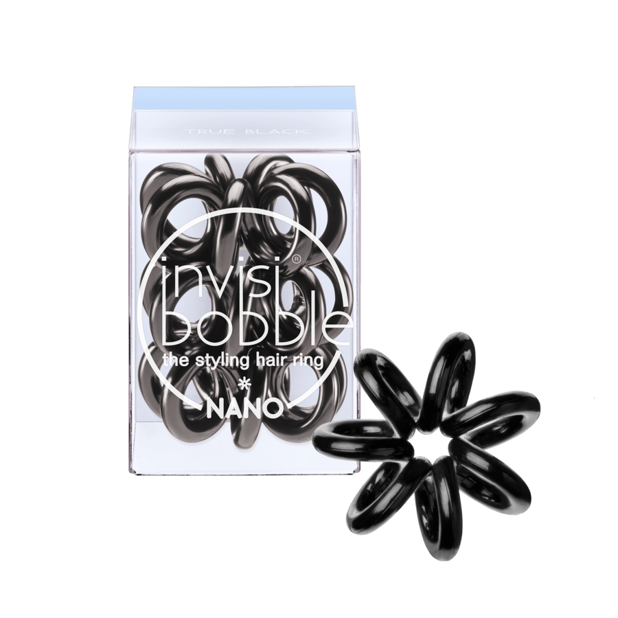 Invisibobble Nano 3 Styling Hair Rings - True Black