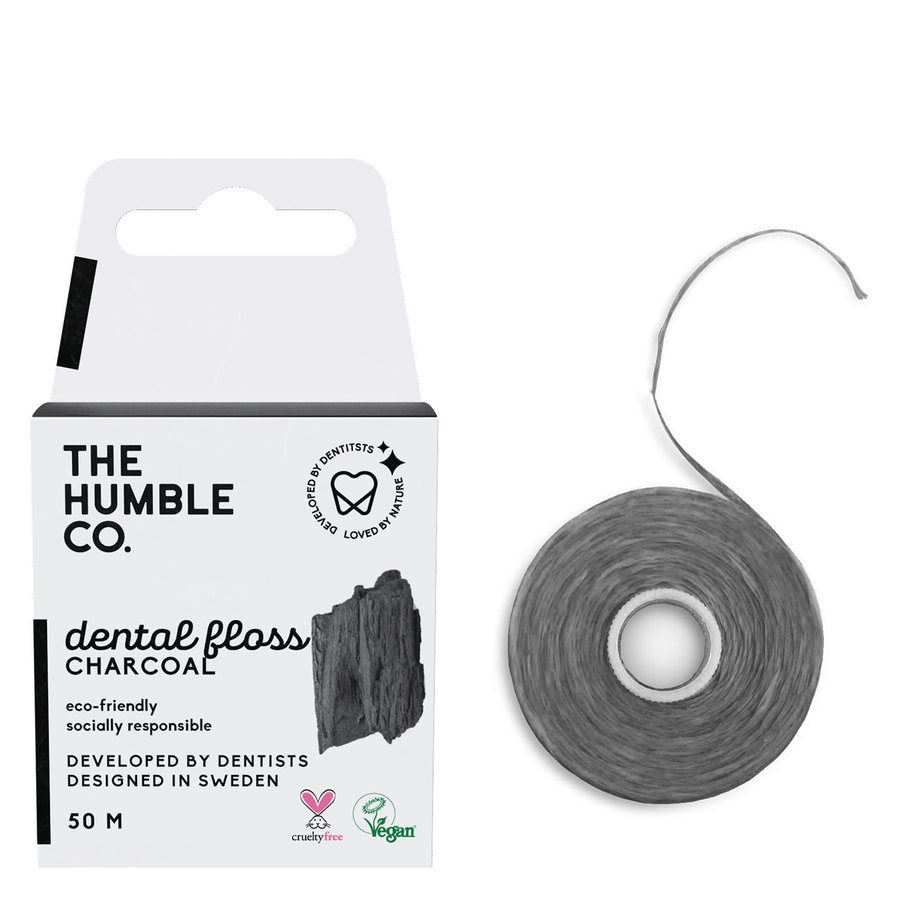 The Humble Co Dental Floss 50 m – Charcoal
