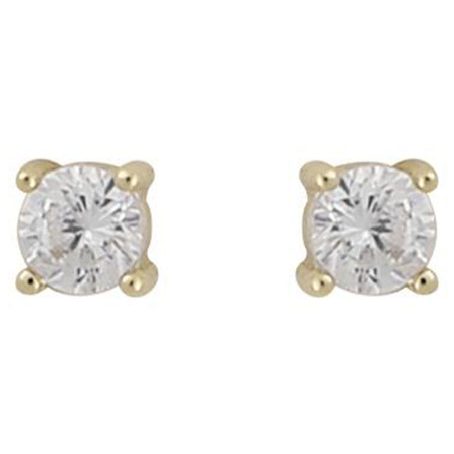 Snö Of Sweden Camille Small Stone Earring ─ Gold/Clear
