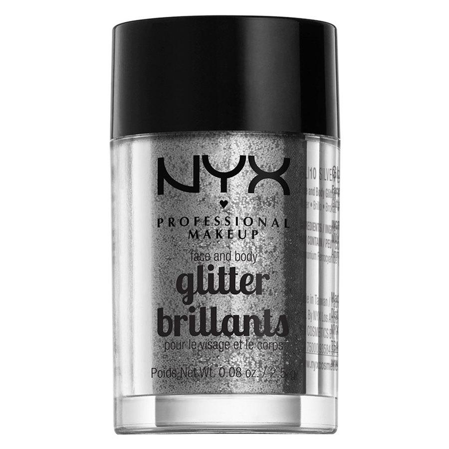 NYX Professional Makeup Face And Body Glitter Brillants 2,5g – Silver GLI10