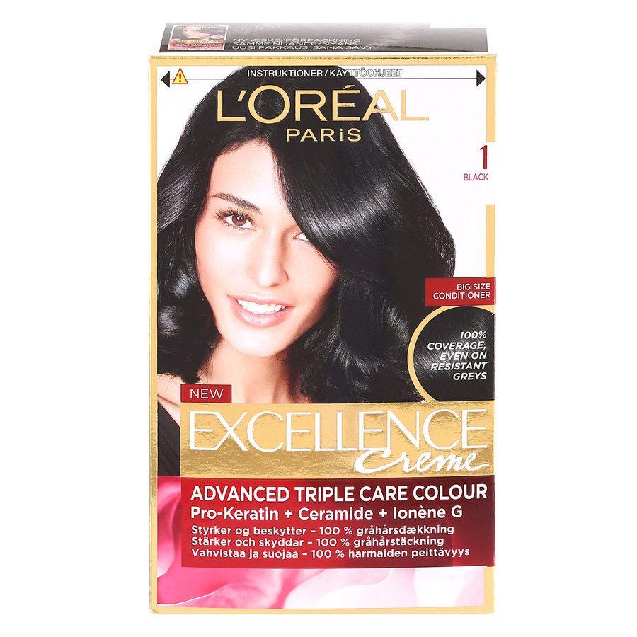 L'Oréal Paris Excellence Creme - 1 Black