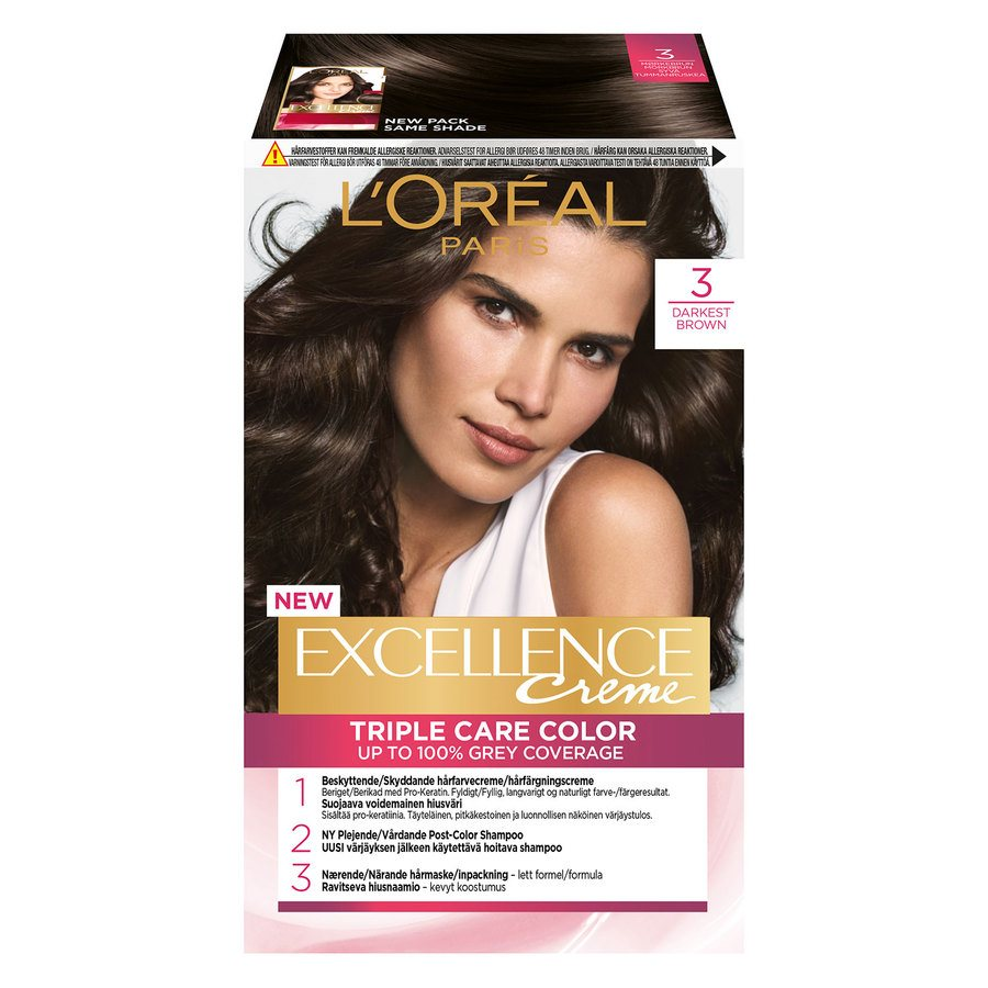 L'Oréal Paris Excellence Creme - 3 Dark Brown