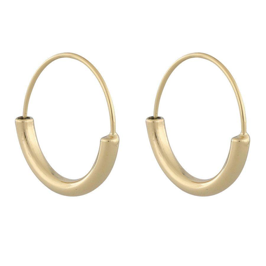 Snö Of Sweden Anglais Ring Earring Plain ─ Gold