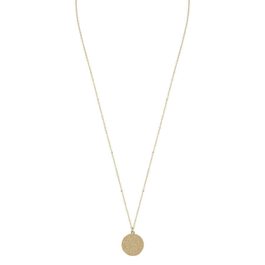 Snö of Sweden Penny Coin Pendant Necklace 60 cm – Plain Gold