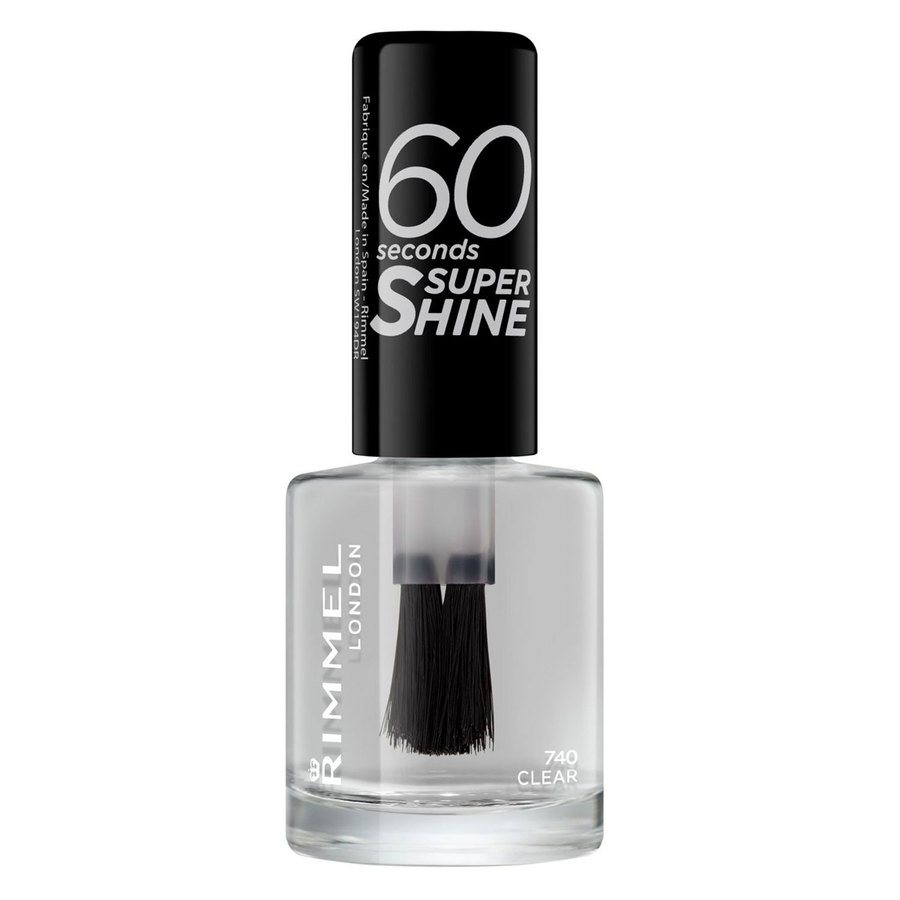 Rimmel London 60 Seconds Super Shine Nail Polish 8 ml ─ #740 Clear